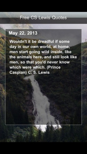Cs lewis, quotes, sayings, man, wild, inside
