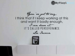 Lee Iacocca inspirational business quote wall by MyVinylStory, $18.97