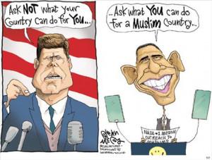 Political Cartoons: JFK vs. Obama