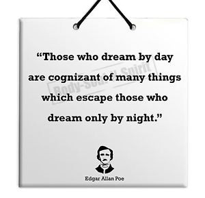 Edgar-Allan-Poe-Quote-Ceramic-Wall-Hanging-Plaque-TILE-Home-Decor-Gift ...