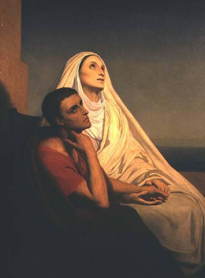 Ary Scheffer - St. Augustine and his mother St. Monica