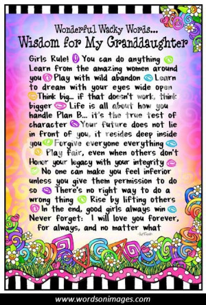 Granddaughter Quotes and Sayings