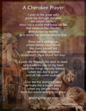 native american poems | Cherokee Prayer] Native American Posters with ...