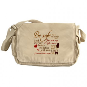 Bella Gifts > Bella Bags & Totes > Edward Cullen Quotes Messenger Bag