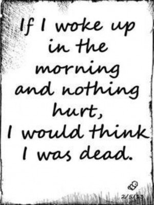Life with chronic pain