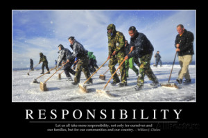 Responsibility: Inspirational Quote and Motivational Poster ...