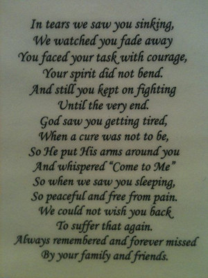 Quotes About A Loved One Who Passed Away Loved one passing away