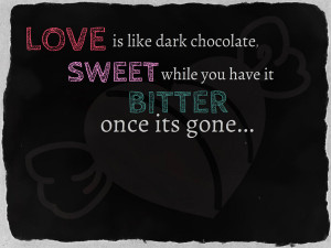 Love is like dark chocolate [WALLPAPER] by Raiyenn