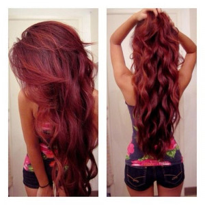 Fierce Red hair. For this hair color, ask your stylist for Aloxxi Hair ...