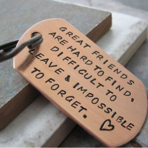 Great+Friends+Quote+Key+Chain+great+gift+for+your+by+riskybeads,+$22 ...
