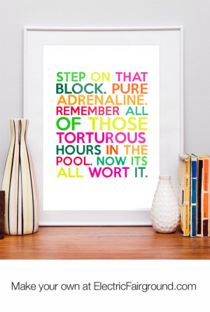 Step on that block. Pure adrenaline. Remember all of those torturous ...