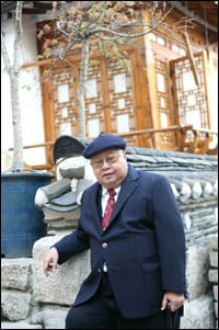 Sionil Jose a veteran novelist from the Philippines poses for a