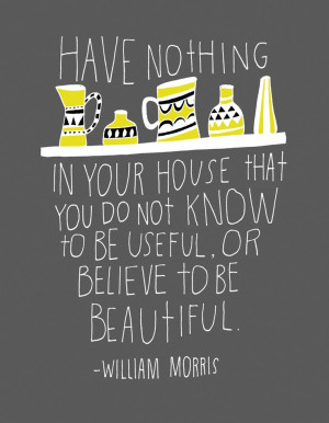 William Morris Quote Archival Print by lisacongdon on Etsy