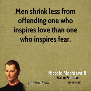 Machiavelli's Claim to Be Either Feared or Loved