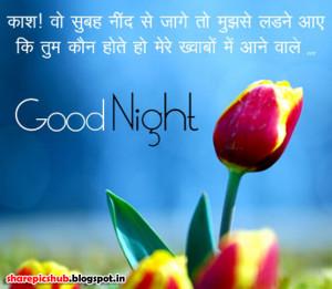 Beautiful Good Night Quotes in Hindi Shayari | Hindi Good Night Wishes