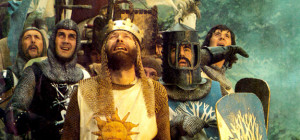 MONTY PYTHON AND THE HOLY GRAIL: Eric Idle, Michael Palin, center from ...