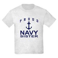 Navy Sister Kids Light T-Shirt for