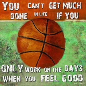 Basketball Quote Jerry West Poster Print by ISI ART (19 x 13)