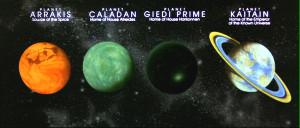 Dune Movie Planets