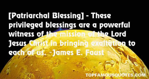 Top Quotes About Patriarchal Blessings