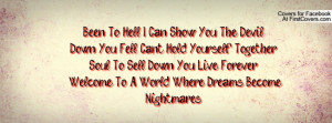 Can Show You The Devil !Down You Fell Can't Hold Yourself Together ...