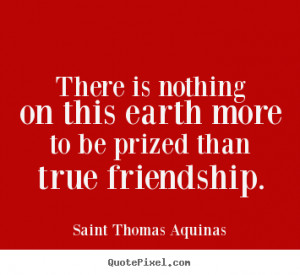 Saint Thomas Aquinas Friendship Quote Canvas Art