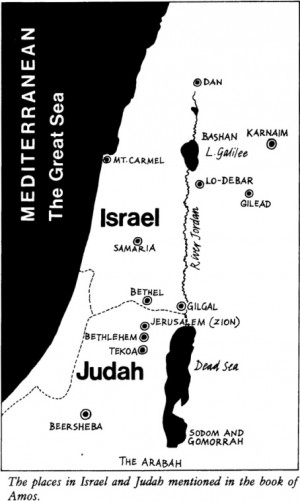 Map of Israel during Amos Time