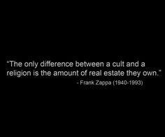 Funny Anti Religion Quotes | text quotes religion frank zappa ...
