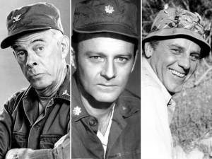 Harry Morgan, Larry Linville, McClean Stevenson
