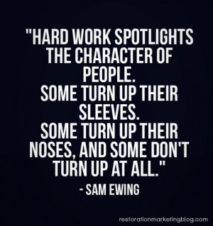 Restoration marketing business quotes hard work