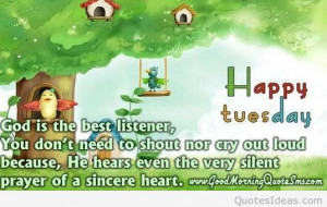 Good morning and happy tuesday quote card