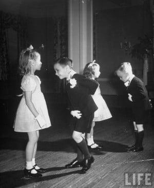Alfred Eisenstaedt: Children in ballroom dancing class . 1945