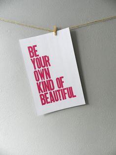 ... Letterpress Poster, Room Decor for Teen Girl, Childrens Wall Art
