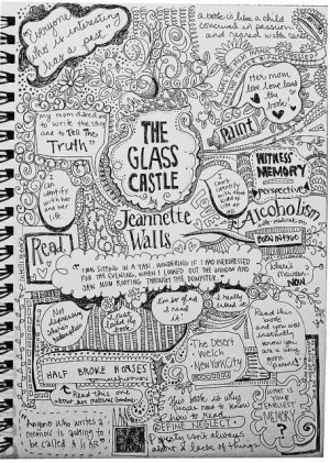 glass castle   Jeanette Walls.. Graphic Notes. Book Club.