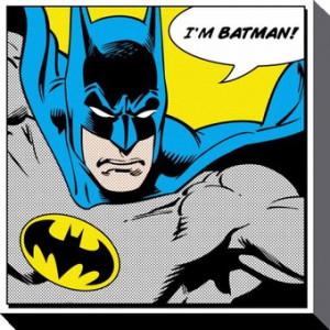 Batman tableau toile Quote 40 x 40 cm