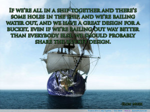 We Belong Together Quotes Sayings if we're all in a ship