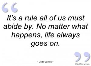 It's a rule all of us must abide by