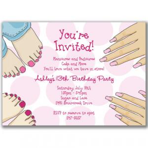 Manicure and Pedicure Invitations