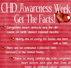 Congenital Heart Defect Awareness Week! FACT:Approximately 1 of every ...