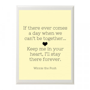 Winnie the Pooh Nursery Quote Print-Stay Forever