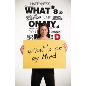 What's on my mind quotes wall decal