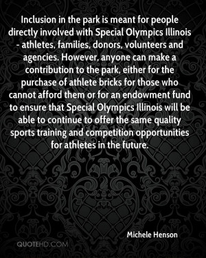Inclusion in the park is meant for people directly involved with ...