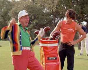 Al Czervic's golf bag was a punchline in