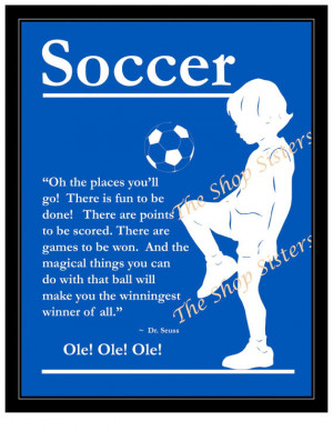 Soccer Boy Olympics Team Silhouette Blue 8 x 10 Print Wall art FREE ...