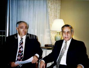 From Left To Right Manouchehr Bibiyan Moshe Katsav Former President