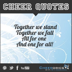 Teamwork! #CheerQuotes