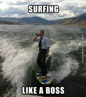 Funny Picture - Surfing like a boss