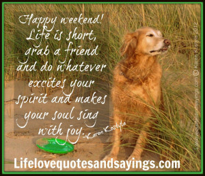 Dog Happy Weekend Quotes