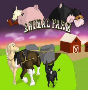 Animal Farm Benjamin Quotes Animal farm poster by the-mad-