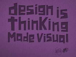 Saul Bass' famous design quote.